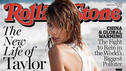 Taylor Swift's wet t-shirt cover for Rolling Stone
