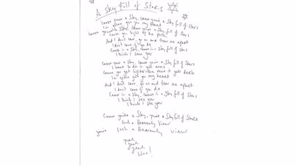 Authentic Coldplay Handwritten Lyrics Found in Tauranga