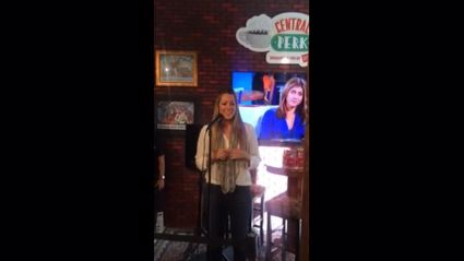 Colbie Caillat does Smelly Cat live at the Central Perk pop up cafe in New York!