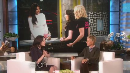 2 Broke Girls star Kat Dennings is obsessed with Kim K...well one part of her anyway!