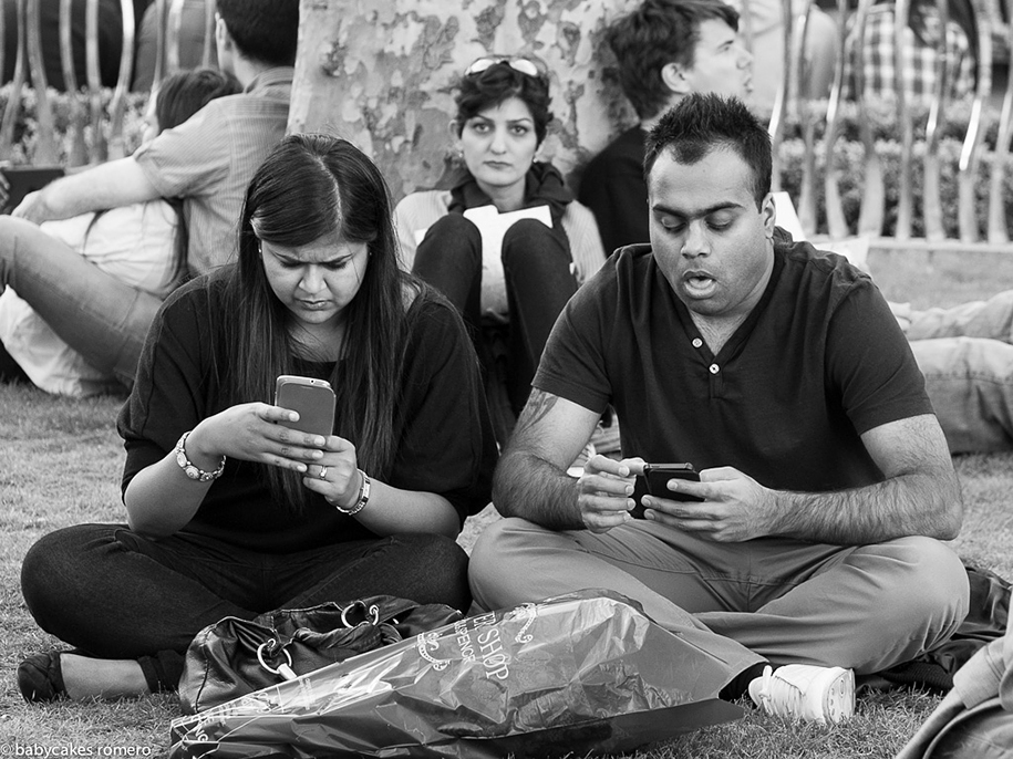 Photographer Captures People's Obsession With Phones