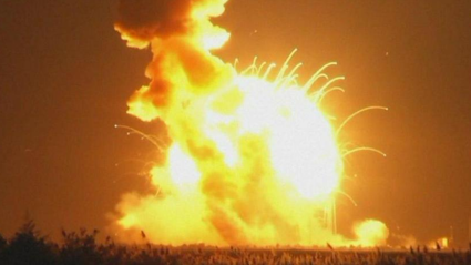 Watch NASA Antares Rocket Crashes & Explodes On Launch