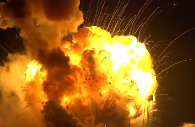 Rocket Explosion From Different Angle