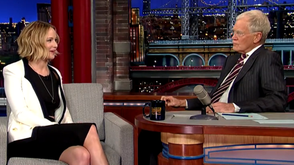 Watch Jennifer Lawrence Sing On Letterman