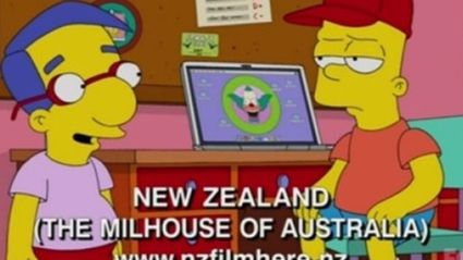 New Zealand is the 'Milhouse of Australia' - Simpsons
