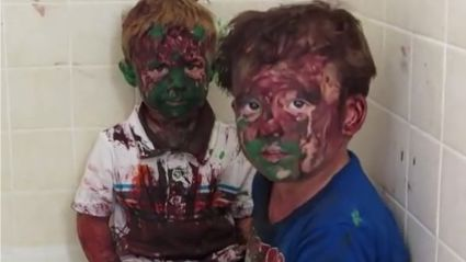 VIDEO: Dad gives sons a not so serious telling off
