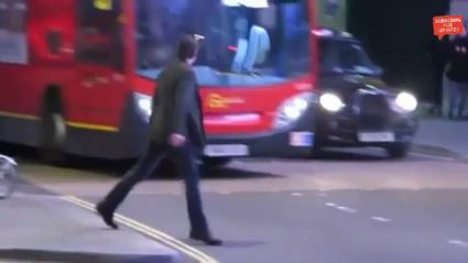 Tom Cruise Nearly Run Over By A London Bus!