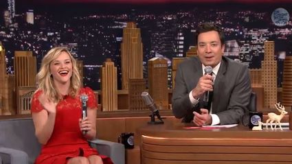 Reese Witherspoon Sings Silly Carol With Fallon