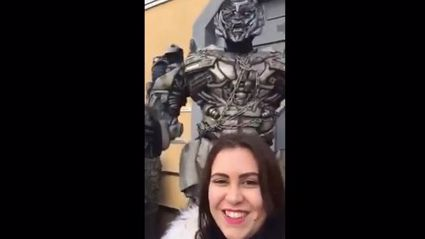 Don't try and take a selfie with Megatron!