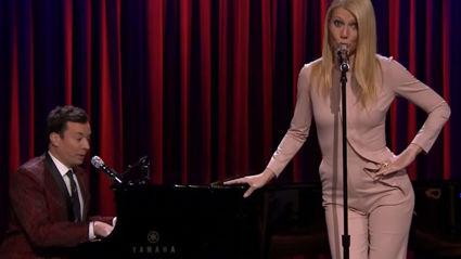 Jimmy Fallon & Gwyneth Paltrow Sing Broadway Versions of Drake, Nicki Minaj and Big Sean