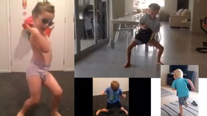 "WARNING: FAR TOO CUTE! Your kids doing ""Uptown Funk""!"