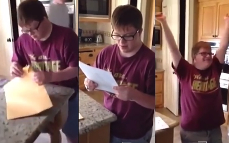 Teen With Down Syndrome Has The Best Reaction To Landing An Internship