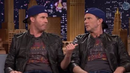Will Farrell and Chad Smith Drum Battle