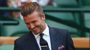 David Beckham Catches Rogue Ball At Wimbledon Like It's No Big Deal