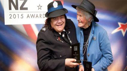 Katikati community advocate Sue Tukaki, left, won the Lifetime Achievement award and Te Puna Quarry Park founder Shirley Sparks won the Environment award. Photo / Andrew Warner