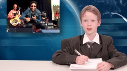 Kids News: Lenny Kravitz's Awkward Accident