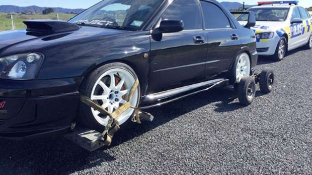 The man, driving a Subaru Impreza, was stopped by police on the section of State Highway 1 expressway between Taupiri and Horotiu after being clocked at 194km/h. Photo / Supplied