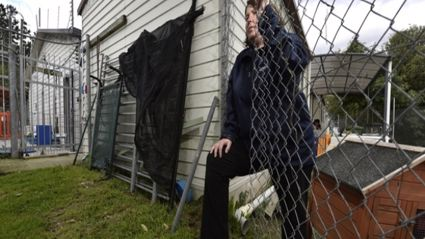 Tauranga SPCA manager Margaret Rawiri is gutted after someone cut their way through the wire security fence and stole two puppies over the weekend. Photo / George Novak