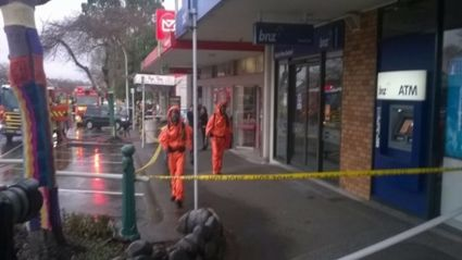 Fire fighters in hazardous materials suits cordoned off parts of Greerton after a suspicious white powder was found at the post office.