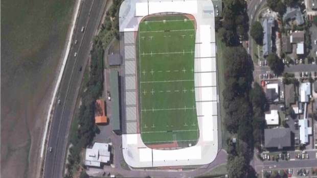 An artist's impression of what the proposed boutique sports stadium at Tauranga Domain could look like. Photo / Supplied