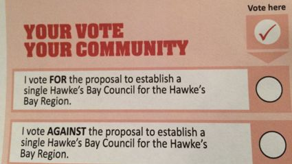 Hawke's Bay says NO To Amalgamation