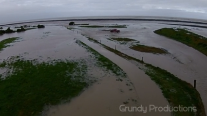 Amazing Drone Footage Of Flooding