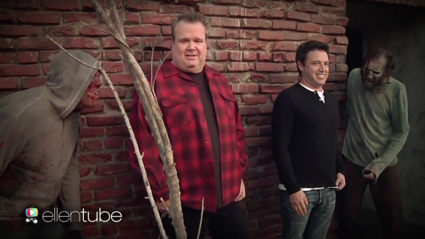 Ellen's Producer Andy and Modern Family star Eric Stonestreet