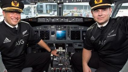 Qantas Flight Crew Wear Black After Losing Rugby World Cup Bet
