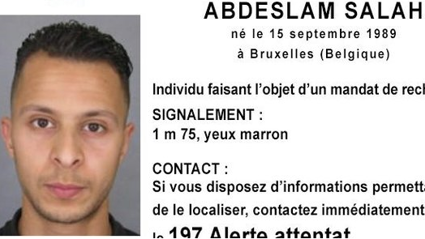 French police put out a photo of a fugitive in the Paris attacks. Photo / Twitter