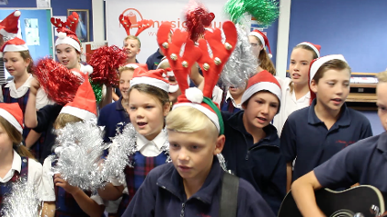 Kids Sing Up A Storm For Toy Run