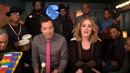 WATCH - Adele sing Hello with classroom instruments