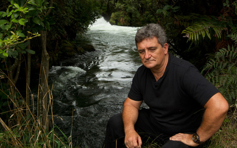 Geoffroy de Saint Germain at the spot on Kaituna River where a man drowned. Photo / Stephen Parker