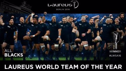 'World Team Of The Year': All Blacks and Dan Carter Win Big At Laureus Awards