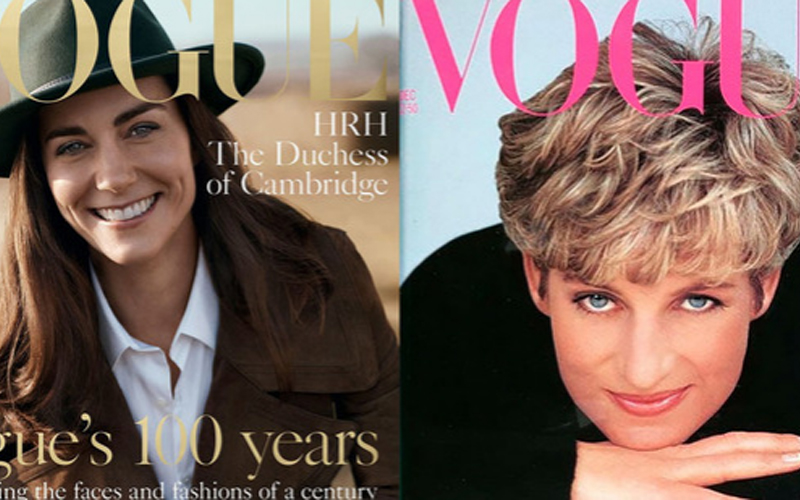 Kate Follows In Diana's Footsteps Featuring On The Cover Of Vogue