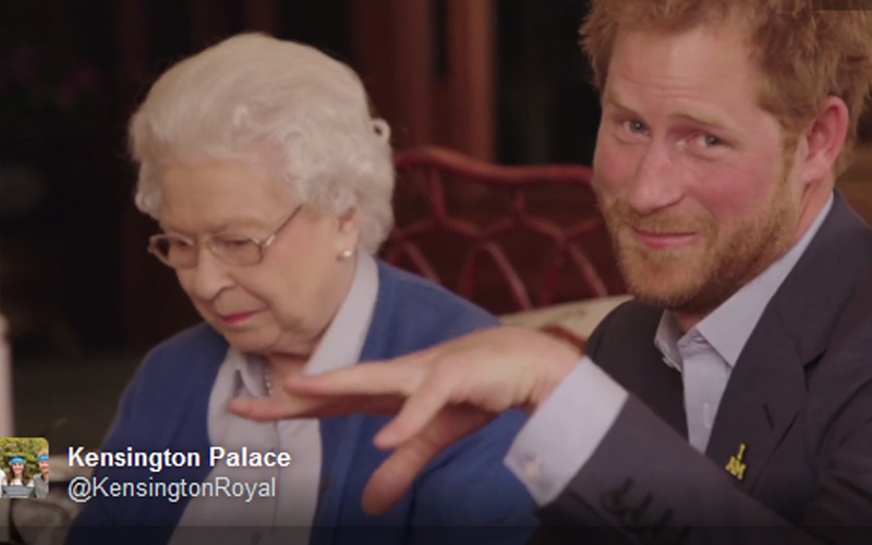 Prince Harry Enlists The Queen To Star In The Funniest Royal Video Since London Olympics James Bond Stunt