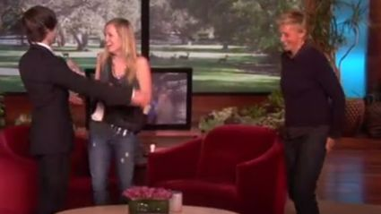 Ellen Helps Two Of Her Staff Members Get Engaged In Front Of Her Audience