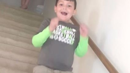Watch the Incredible Moment Boy Finds Out He's Beaten Cancer