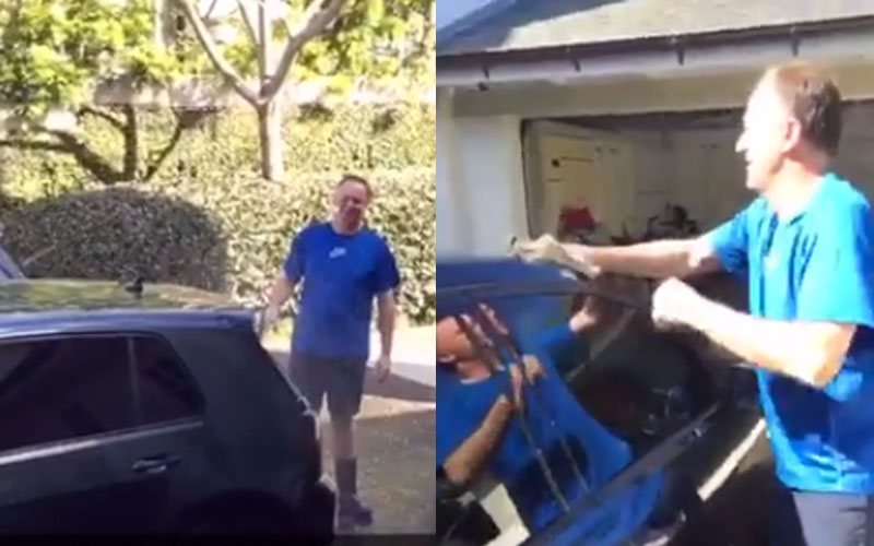 Max Key Films John Key Washing The Car and It's Funnier Than You'd Expect