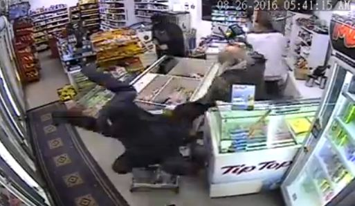 Incredible Footage: Napier Father and Son Dairy Owners Fight Off Shop Attackers