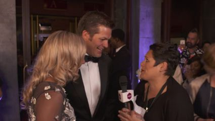 Anika Moa Tackles Richie McCaw at the Premiere of 'Chasing Great'