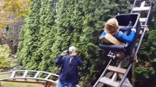Grandad Builds Rollercoaster in Backyard For His Grandchildren