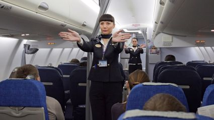 Could this be the best airline safety demonstration?