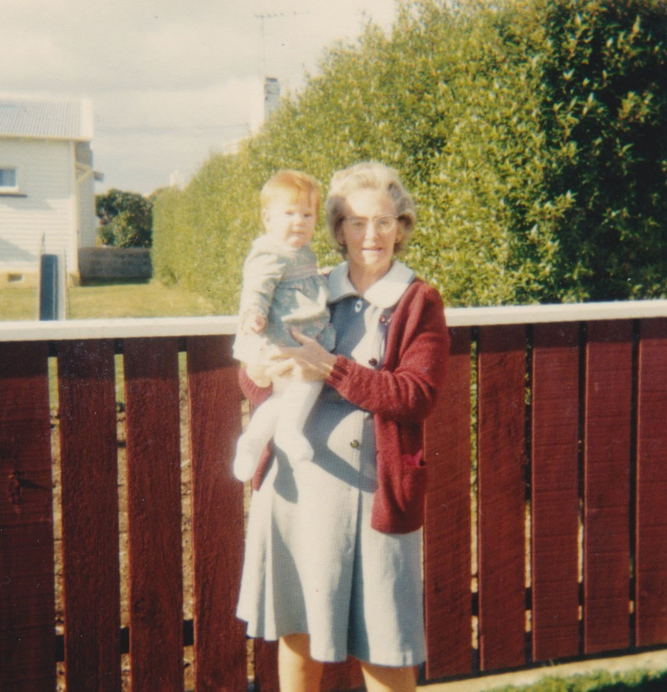 Cheryl Smith: This is one of my favourite 'young' photos... a very young me hanging out with my grandma. I loved hanging out with her, she would always have baking in the tins. Many nights we stayed up till midnight, chatting, drinking tea and eating chocolate chippie biscuits or sultana cake! She passed away just over a year ago and I still miss our chats!