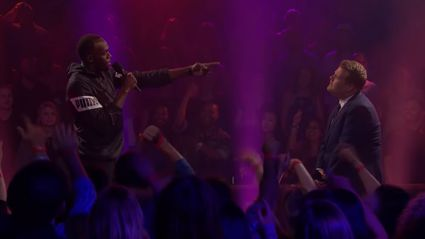 Watch: James Corden takes on Usain Bolt in an epic rap battle
