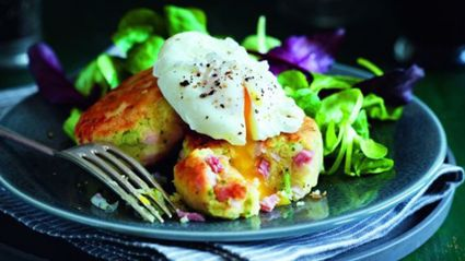 Ham and potato cakes recipe