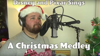 This guy did every Christmas song in the voices of Disney and Pixar characters