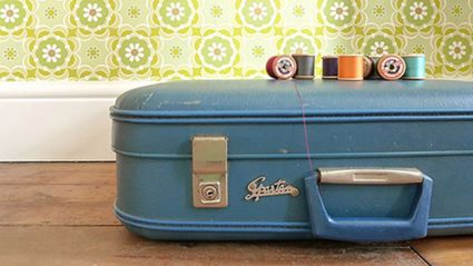 Woman turns vintage suitcases into one-of-a-kind decor