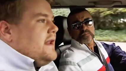Watch George Michael with James Corden on an early version of Carpool Karaoke
