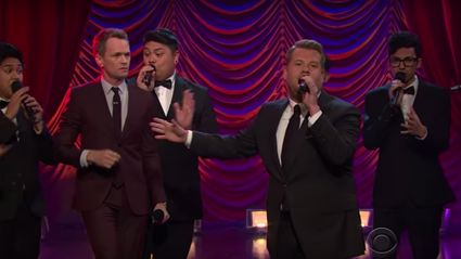 Neil Patrick Harris and James Corden face off in an epic Broadway tune battle