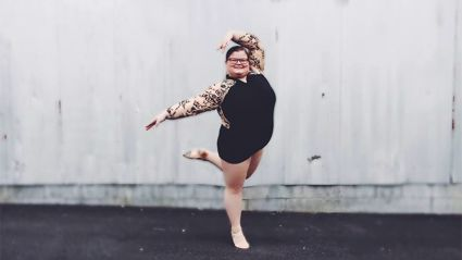 Plus-size ballerina becomes an online star after footage of elaborate turning sequence goes viral